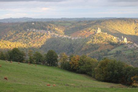 Vue sur la village de Najac