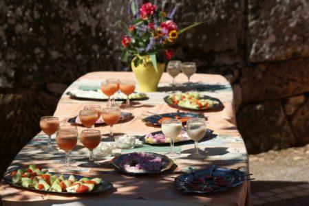 Le Hameau de Moulès (groupes): menu
