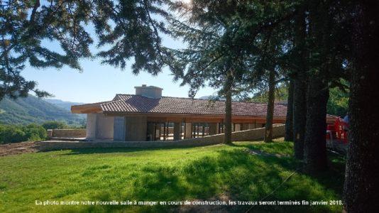 Le Hameau de Moulès (groupes) : nouvelle salle à manger
