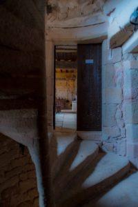 escalier à vis du château de Montaigut