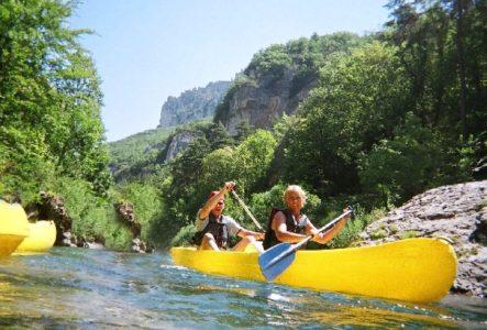 canoe dans les gorges