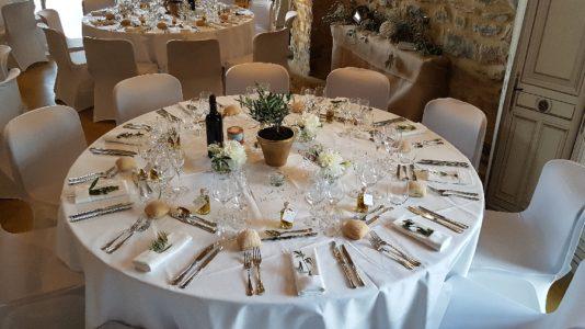 Exemple de décoration de table.