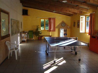 Salle de ping pong