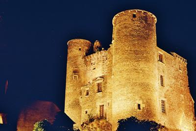 chateau de coupiac nuit