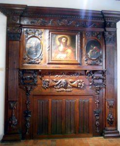 Conques - Musée Joseph-Fau - Devant de cheminée XVIIe siècle