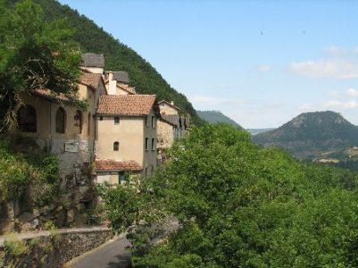 le gîte, vue sur la vallée du Tarn