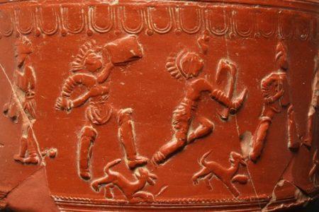 Gladiateurs, détail vase sigillée de la Graufesenque