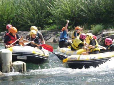 Initiation rafting au stade d'eaux vives !