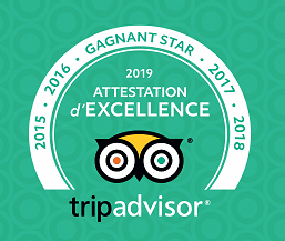 Certificat d'excellence TripAdvisor Parc de Loisirs des Bouscaillous