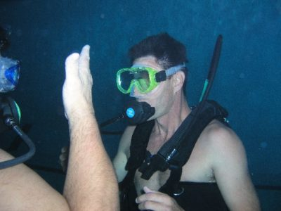 Baptême de plongée