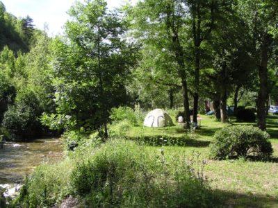 camping bord de la jonte