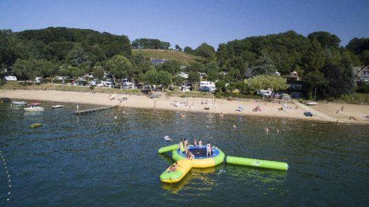 Camping Beau-Rivage du lac de Pareloup en Aveyron