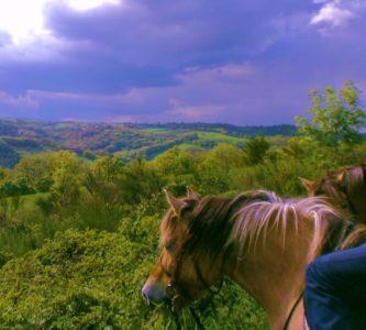 rando aventure, paysage autour de la ferme