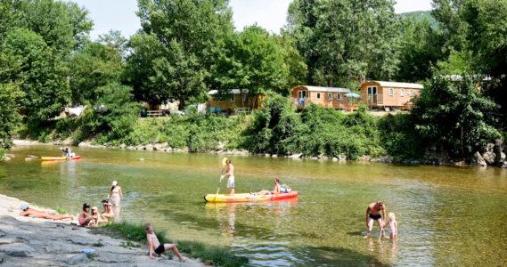 Camping Huttopia Millau - Accès Rivière