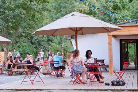 Camping Huttopia Millau - terrasse