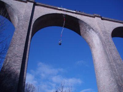 Saut à l'élastique depuis le Viaduc d'Alzon