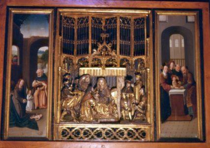 Triptyque dans la chapelle des Augustins à St Geniez d'Olt
