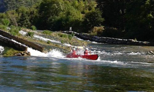 canoe proche de Millau