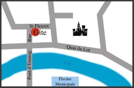 Localisation du gîte