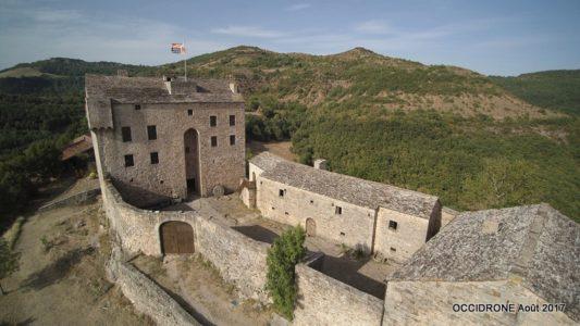 château vu en drone